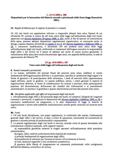 diritto degli enti locali dispense sentenza teckal dispense