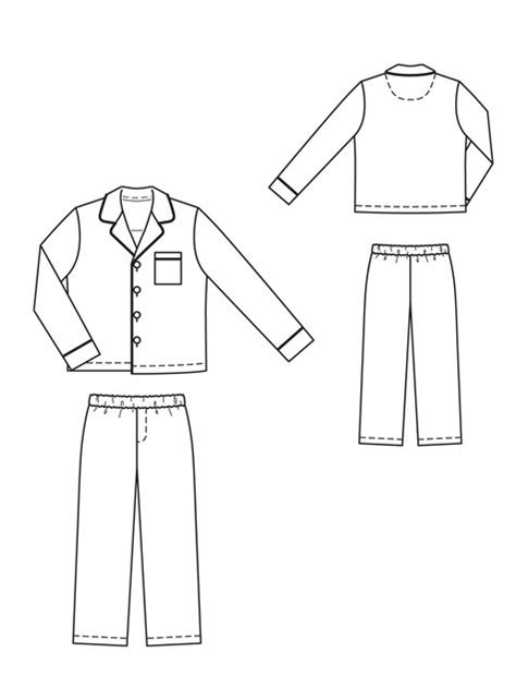 pajama template boy s pajama set 12 2010 135 sewing patterns