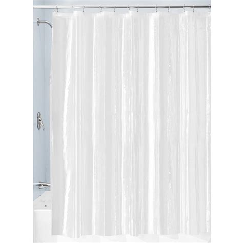 shower curtain sizes interdesign specialty size peva shower curtain liner