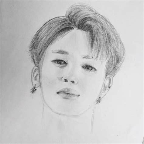 V Drawing Jimin by How To Draw Jimin Army S Amino