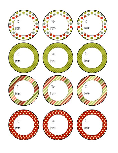 Printable Round Christmas Gift Tags | ultimate collection of free printable christmas gift tags