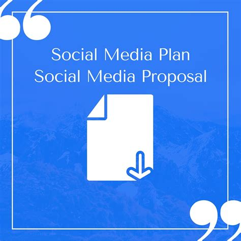 social media plan free compelling social media plan templates to win clients
