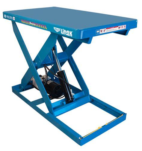 hydraulic pallet lift table bishamon lift table optimus lk series