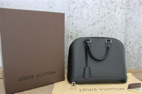Jual Tas Lv Alma Epi Leather Black With Box Mirror Quality 1 louis vuitton black epi leather alma pm bag