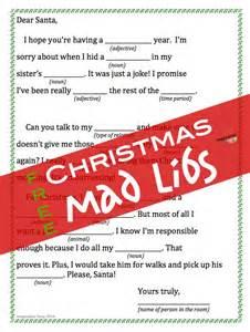 Free printable christmas mad libs imagination soup