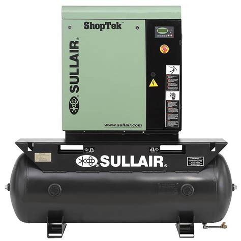sullair shoptek 5 hp 3 phase 208 volt 80 gal stationary electric rotary air compressor