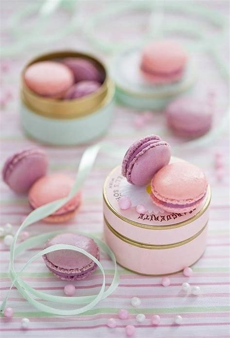 Macaron Baby Shower Favor by Pink And Purple Macarons Photo From Http