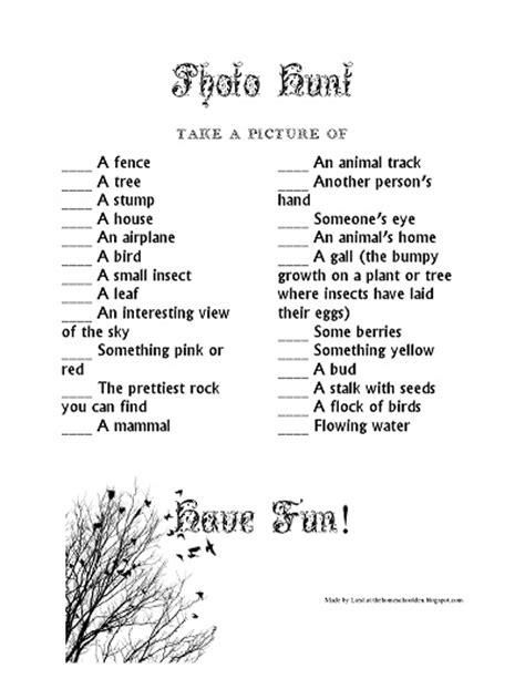 idea hunt nature scavenger hunt free download homeschool den
