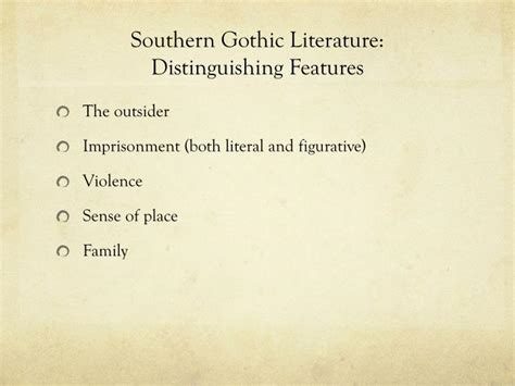 Themes Of Southern Gothic Literature | 3 ways not to start a southern gothic writing