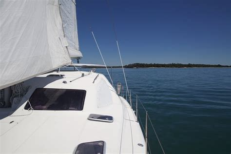 catamaran amelia island a view from the back of the catamaran picture of