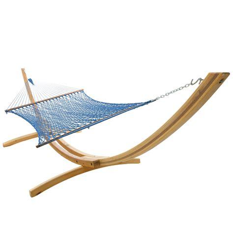 Duracord Hammock deluxe duracord rope hammock in coastal blue dfohome