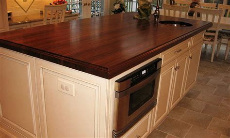 Wood Countertops For Kitchen by Walnut Wood Kitchen Island Countertop With Sink By