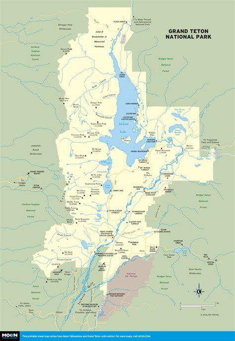 grand map national park printable maps of wyoming incl yellowstone grand teton