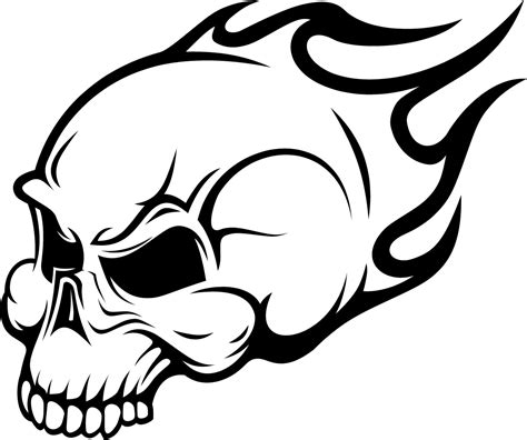 Flaming Skull Coloring Pages flaming skull wall sticker wall decals transfers