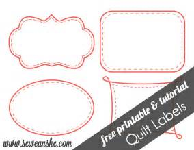 Quilt Templates Printable by Quilt Labels Free Printable Sewcanshe Free Daily