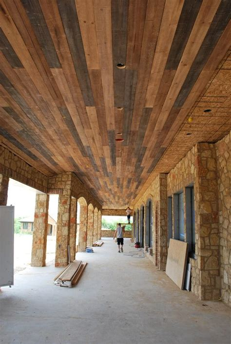 Outdoor Wood Ceiling Panels by Wood Panel Ceiling With White Beams Decor References