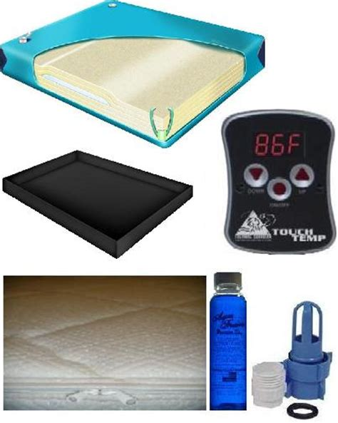 Waterbed Mattress And Heater 99 Waveless Mattress Kit W Cotton Cover 1 800 205 8003 Liner Digital Heater Fill Kit