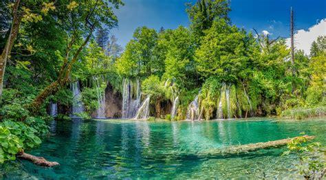 wodospady wsrod roslin  parku narodowym jezior