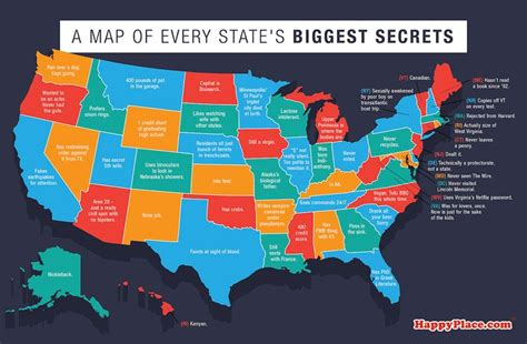 here s a map of the secrets every state is hiding