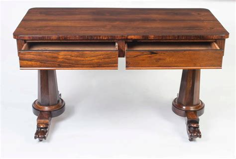Antique William Iv Rosewood Writing Sofa Table Circa 1830 Antique Sofa Table For Sale