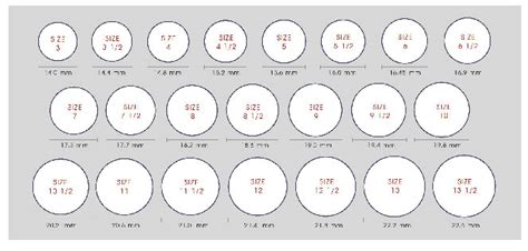 us men s ring size printable chart measuring your finger