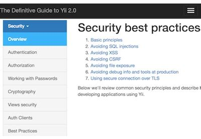 yii2 complete tutorial programming with yii2 security