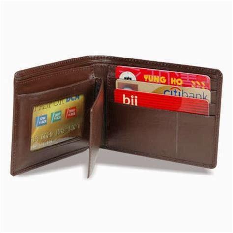 Dompet Kulit Asli Model Medium 3 4 Dengan Sisipan Tengah Warna Coklat jual dompet tas kulit asli murah