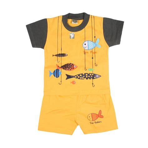 Baju Anak Kuning jual tompege tp 2123b oblong setelan baju anak laki laki kuning harga kualitas