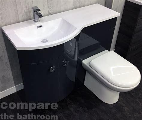 grey p shape 1100mm curved vanity set bathroom suite sink