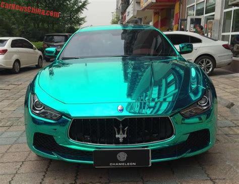 maserati ghibli wrapped bling maserati ghibli is shiny light green in china
