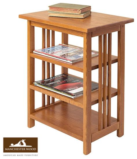 Side Table Shelf mission 3 shelf end table by manchester wood traditional