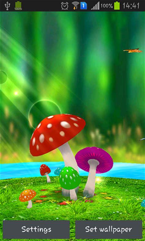wallpaper android mob org mushrooms 3d live wallpaper for android mushrooms 3d free