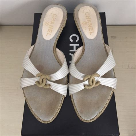 Slip On Shoes Chanel 8819 85 chanel shoes authentic chanel slip on flats from