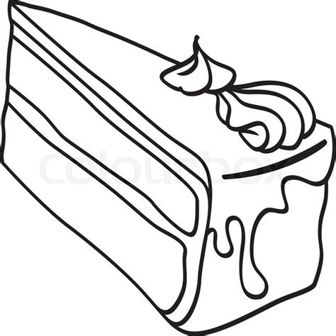 coloring pages of a piece of cake free cake slice coloring pages