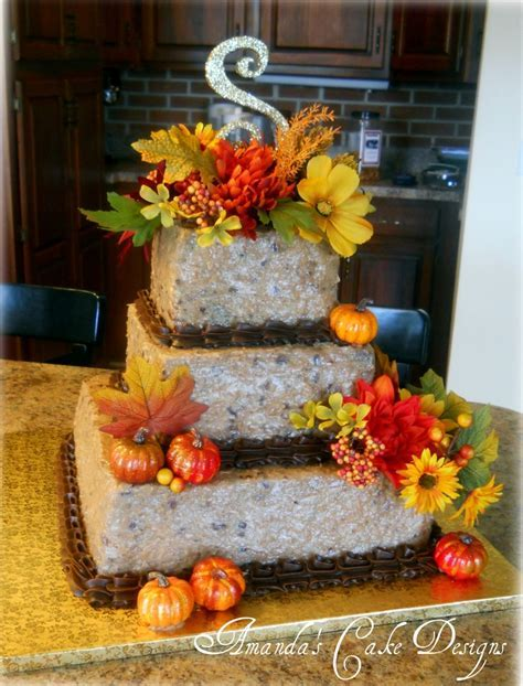 German Chocolate wedding cake~   Amanda's Cake Designs