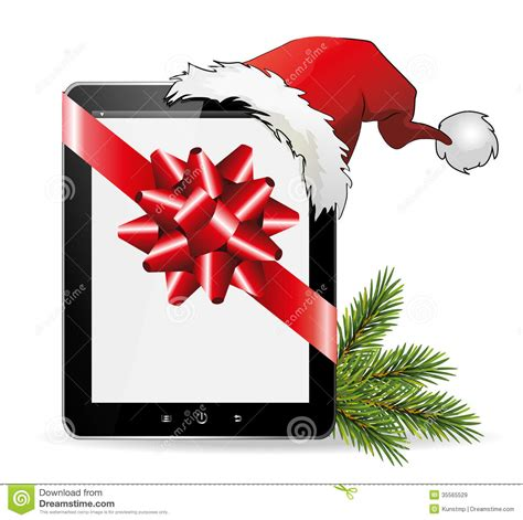 buy gifts gift with santa hat royalty free stock