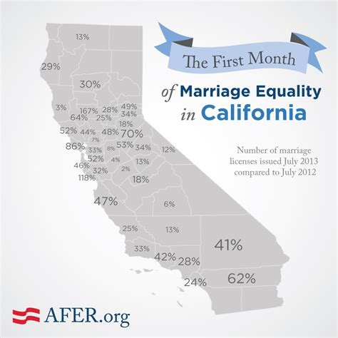 best month for wedding in california map california s month of marriage equality by the numbers american foundation for