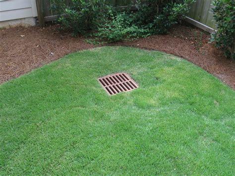 backyard drain water control and drainage