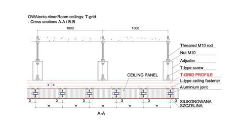 section grid sufit t grid sufity pomieszczeń czystych cleanrooms pl