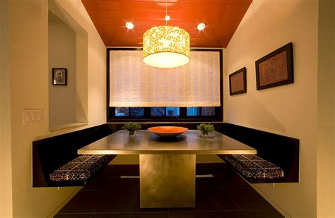 Home Dining Room Booths 25 Trendy Dining Rooms With Spunky Orange