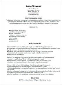 Exle Of Receptionist Resume by Professional Receptionist Resume Templates To Showcase Your Talent Myperfectresume