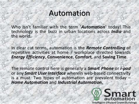 advantages of home and industrial automation