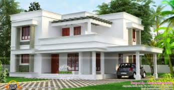 simple roof designs simple but beautiful flat roof house kerala home design