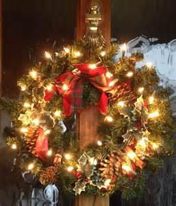 christmas wreath with lights christmas door decor