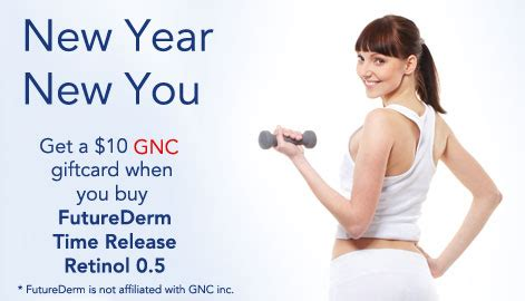 Buy Gnc Gift Card - buy futurederm time release retinol 0 5 and receive a 10 gnc gift card futurederm