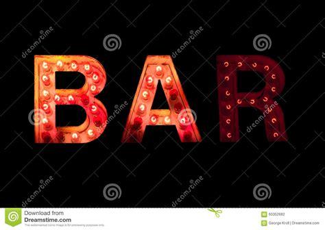 vintage light bulb signs vintage lightbulb bar sign stock photo image 60352682