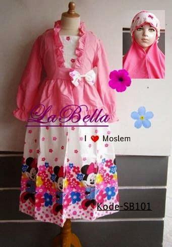 Gamis Baby Labella Pink roemah kayandra gamis labella sb101 pink minnie