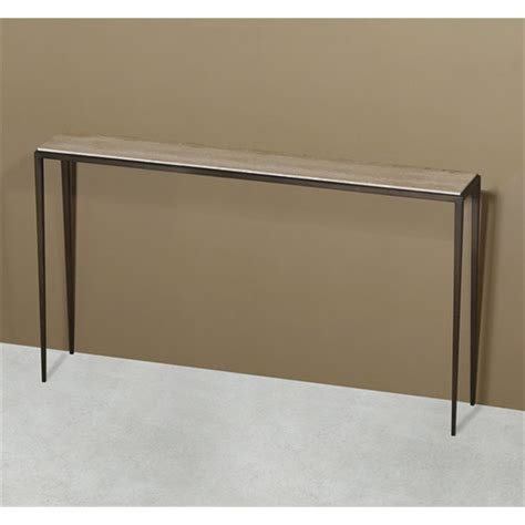 travertine sofa table interlude home morell sofa table travertine 135093