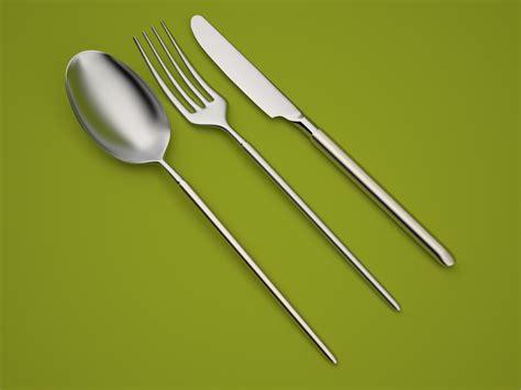 besteck modern modern cutlery by ticilo 3docean