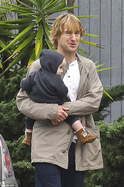 owen wilson house owen wilson looks happy during rare sighting with son